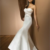 Highlight The Curve Glamour Strapless Embroidery Stain Wedding Dress WD1727