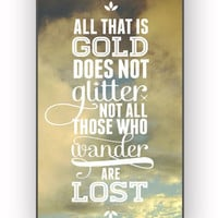 not all those who wander are lost tolkien for iPhone 4/4S Case **