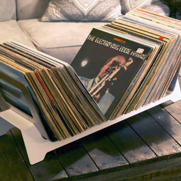Record Stash Rack.  Low Profile Shelf for your 33's