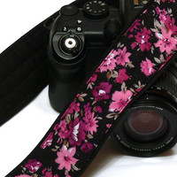 DSLR Camera Strap. Padded Camera Strap. Floral Camera Strap for Canon, Nikon, Panasonic, others cameras. Etsy Gifts. Christmas Gifts For Her