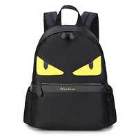Fendi Fashion New Eye Women Men Leisure Backpack Bag Black