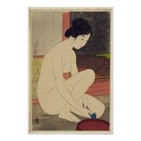 Woman after Bath - Japanese Vintage Art Reprint