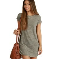 Gray T-shirt Tunic