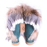 UGG Fashion Women Fur Wool Snow Boots In Tube Boots Shoes-4