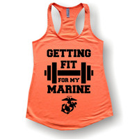 Getting Fit For My Marine, tank tops, shirts, v necks