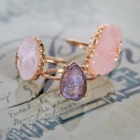 Rock - Mineral - Stackable Rings - Set of 3