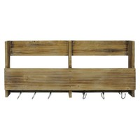 Wooden Shelf with S Hooks