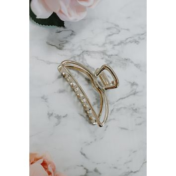 Kitsch Open Shape Claw Clip - Gold