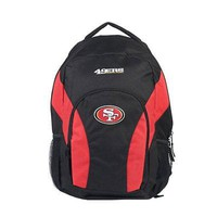 NFL San Francisco 49ers Backpack NFL DraftDay Black/Red School Backpack 18""