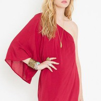 Serious Flare Dress - Crimson - NASTY GAL