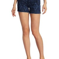7 For All Mankind Women's Carlie Cut-Off Shorts in Blue Diamond Laser