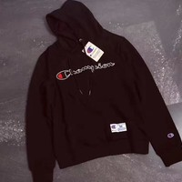 Champion Pure cotton hooded men and women with matching hoodies Black