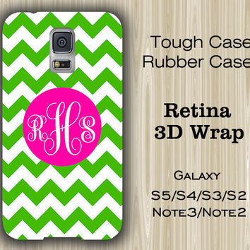 Teen Green Chevron Monogram Samsung Galaxy S5/S4/S3/Note 3/Note 2 Case