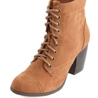 LACE-UP MID HEEL COMBAT BOOT