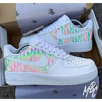 Dior NIKE Air force one Fashion casual shoes-4