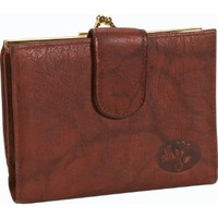 Buxton Heiress Double Cardex Wallet, Mahogany, One Size