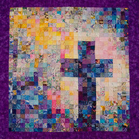 Christian Cross Quilt - Watercolor Art - Peacock Colors - Made To Order