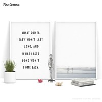 Life Quotes Beach Poster Scandinavian Decor Nordic Art Posters and Prints Wall Picture for Living Room Wall Art Canvas Print