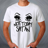 Not Today Satan Sassy Glamour Drag T-shirt