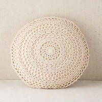 Plum & Bow Primrose Round Crochet Pillow