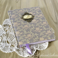 Handmade journal with fabric cover Fabric notebook Blank wedding book Fabric journal Floral notebook Personal diary for girls Wedding diary