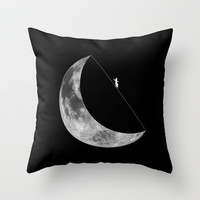 Moon walker Throw Pillow by Tony Vazquez