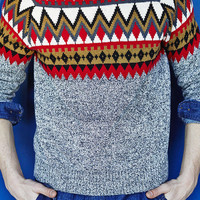 Hawkings McGill Zigzag Print Sweater  - Urban Outfitters