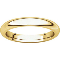 14kt Yellow 3mm Comfort Fit Wedding Band: RingSize: IR4_48216_P