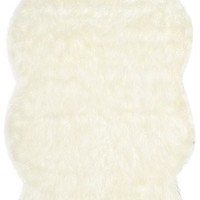 Safavieh Faux Sheep Skin FSS117A Ivory Rug
