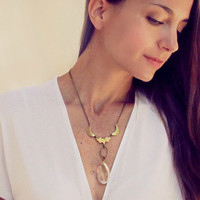 Arden - Crystal Crescent Moon Necklace