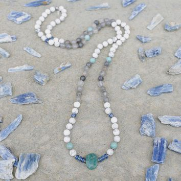 Renewal Gemstones Hand Knotted Mala Necklace