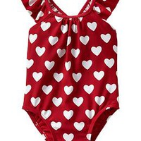 Printed flutter one-piece