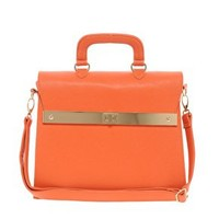 ASOS Top Handle Bag With Bar Lock Fitting at asos.com
