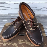 TIMBERLANDS Women's Size 7.5 Brown Noreen Icon 3 Eye Classic Leather Shoe NEW