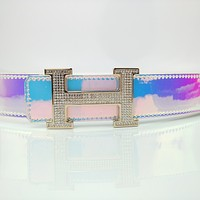 Hermes Simple Diamond H Belt for Men and Women
