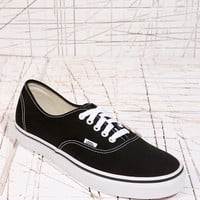 Vans Authentic Trainers in Black - Urban Outfitters