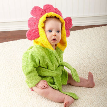 "Baby Aspen ""Showers and Flowers"" Hooded Spa Robe"
