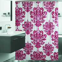 "Damask-Print Shower Curtain Set - Two Colors Available - 72"" x 72"""