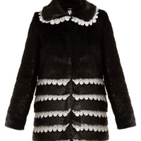 Sol lace-trimmed faux-fur coat | Shrimps | MATCHESFASHION.COM UK