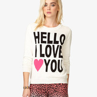 Hello I Love You Sweater   FOREVER 21 - 2039763596