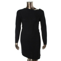 Eileen Fisher Womens Merino Wool Asymmetric Sweaterdress