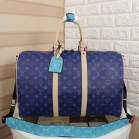 Louis Vuitton Lv Monogram Canvas Keepall 45 Shoulder Bag Travel Bag #13351 - Best Deal Online