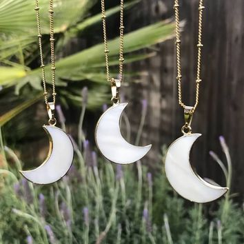 Crescent Moon Necklace #I1172