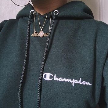 Champion Fashion Sport Hoodie Top Sweater Sweatshirt
