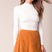 Penny Suede A-Line Skirt