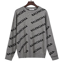 Balenciaga knitted letter pullover long-sleeved sweater