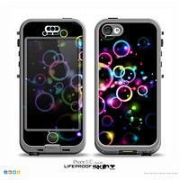 The Glowing Neon Bubbles Skin for the iPhone 5c nüüd LifeProof Case