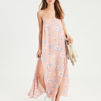 AE Double Slit Strappy Maxi Dress, Blush