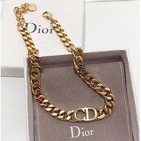 Dior New fashion letter chain bracelet women Golden