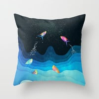 Come to reach the stars Throw Pillow by SensualPatterns